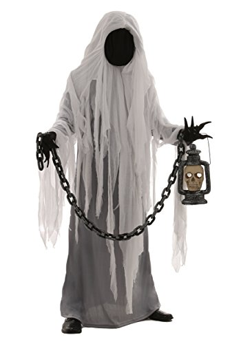Adult Spooky Ghost Costume Medium White ()