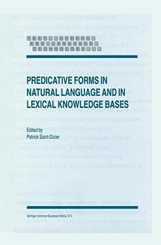 Predicative Forms in Natural Language and in Lexical Knowledge Bases (Text, Speech and Language Technology) Pdf