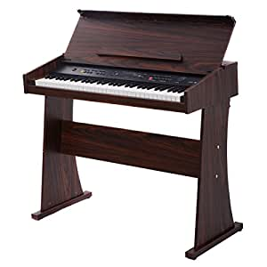 costzon 61 key electronic piano keyboard musicial digital piano w led display. Black Bedroom Furniture Sets. Home Design Ideas