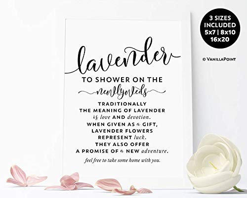 Arvier Lavender Toss Wedding Sign Printable Ceremony Exit