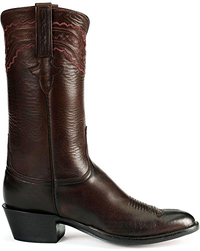 Lucchese Men's Handcrafted Classics Mad Dog Ranch Hand Leather Cowboy Boot Blk Cherry 9 EEE US