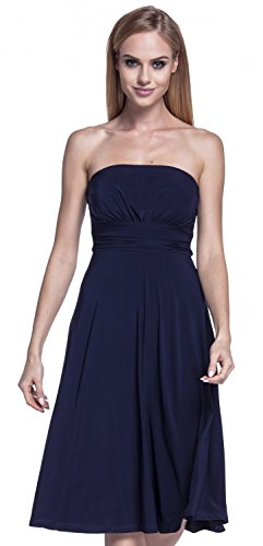 Glamour Empire. Para Mujer Vestido Sedoso Sin Tirantes Palabra de Honor. 129 Armada