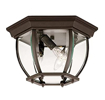 """Savoy House Exterior Collections 7"""" Flush Mount in Black 07038-BK"""