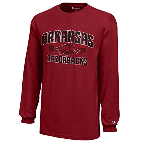 - NCAA Champion Boy's Long Sleeve Jersey T-Shirt Arkansas Razorbacks Medium