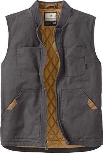 Legendary Whitetails Mens Canvas Cross Trail Vest Charcoal X-Large