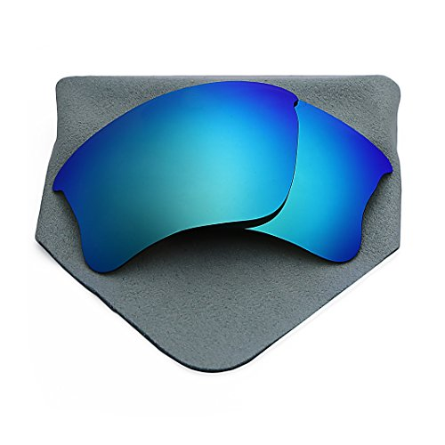 Polarized Lenses Replacement for Oakley Flak Jacket XLJ Blue Mirrored (006 Replacement)