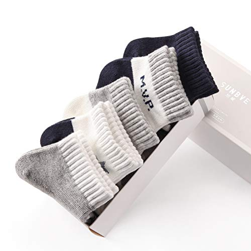 SUNBVE Kids Boys Soft Fashion Cotton Dress Socks Gift