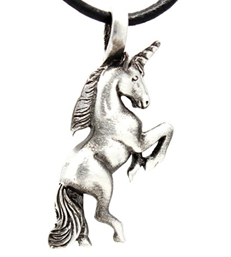 Trilogy Jewelry Pewter Mystical Unicorn Pendant on Leather Necklace