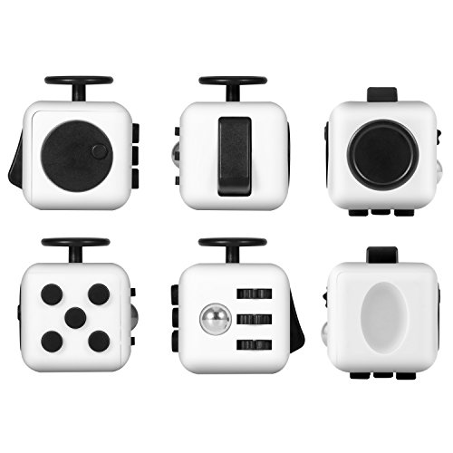 Magicfly Fidget Spinner and Fidget Cube : Stress Reducer Perfect For ADD, ADHD, Anxiety & Autism Adult Children (White) - 2