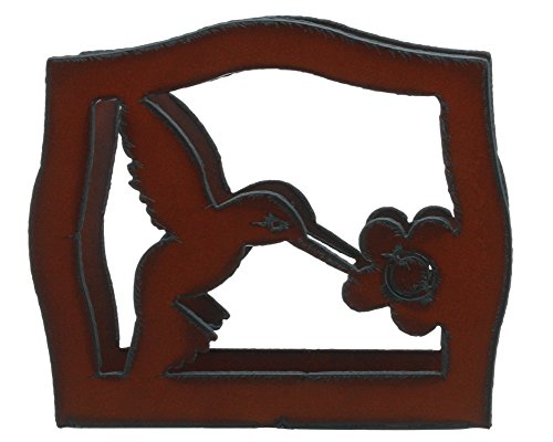 "Rustic Ironwerks Hummingbird Napkin Holder 6.5"" By 6"" By 2"