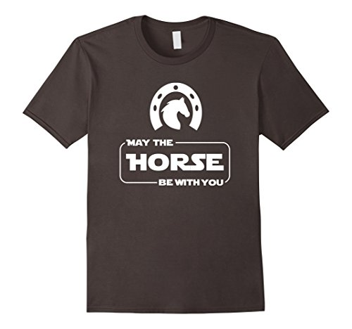Mens May The Horse Be With You Funny Horse Lover T Shirt Gift Large Asphalt