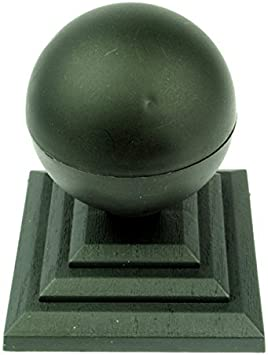 "4/"" Fence Post Caps UK Made GT0014 Linic 2 x Brown Acorn Fence Top Finial"