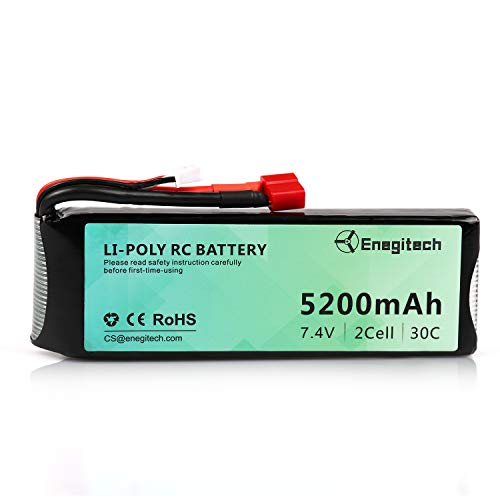 Batteriol 2S Lipo Battery RC Battery 7.4V 30C 5200mAh with Deans-T Plug for...