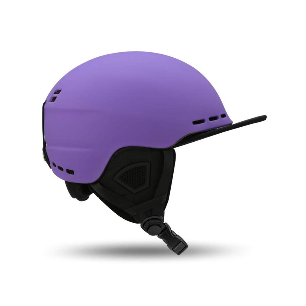 【ふるさと割】 スキー&スノーボード用ヘルメット B07PTYCS8L、スキー用保護安全帽スケートボードスケート用ヘルメット調節可能なヘッドバンド付きキャップひさし l B07PTYCS8L Purple Purple L l, せともの本舗:140f5bad --- a0267596.xsph.ru