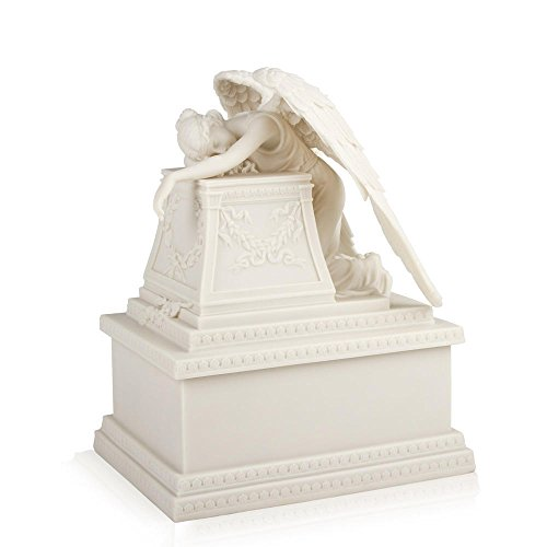 Perfect Memorials White Weeping Angel Cremation Urn Medium