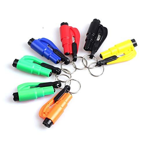 ink2055 Mini Safety Hammer Emergency Seat Belt Cutter Car Window Breaking Escape Tool Handbag Bag Purse Pendant - Blue ()