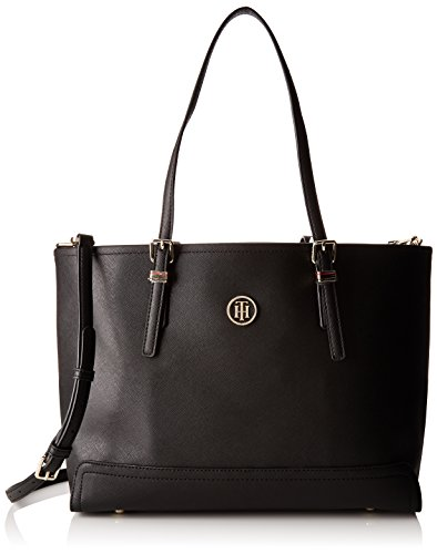 Tommy Hilfiger Honey Med Tote, Bolso Totes para Mujer, 14x27x40 cm (W x H x L) Negro (Black)