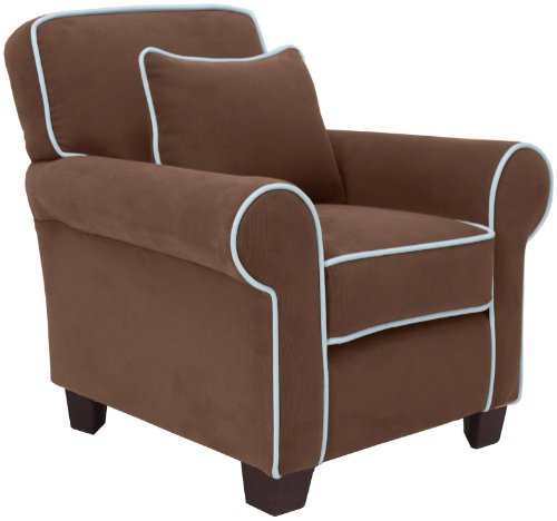 Child to Cherish Heirloom Chair Brown - Lt Blue Piping