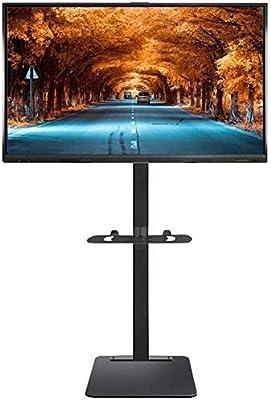 SOAR Soporte TV Ruedas,LCD Y Computadora Bases for TV con el Estante, de 32/40/42/43/49/50/55/60/65/70 de la Pantalla de Panel Plano LCD LED Pulgadas, Negro Heavy Duty Televisión Soporte: Amazon.es: Electrónica