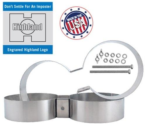 XS Scuba Stainless Steel 7.25-in. Diameter Twin Tank Bands -