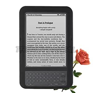 """TrendyDigital High Grade Silicone Gel Case for the Amazon Kindle 3 (Third Generation Kindle, Kindle Wi-Fi, or Kindle 3G + Wi-Fi , 6"""" Display), Black"""