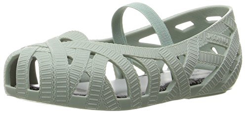 Mini Melissa Kids' Mini Jean + Jason Wu Ballet Flat, Baby Green, 5 M US Toddler