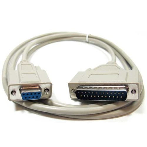 (SF Cable, 25ft DB9 Female to DB25 Male Modem Cable)