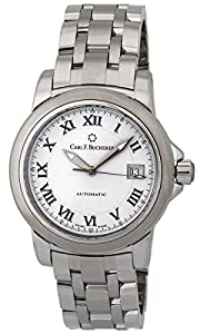 Carl F. Bucherer Patravi AutoDate Automatic Steel Mens Watch White Dial 00.10617.08.21.21