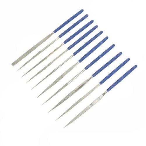 Silverline 633509 Diamond Needle File Set 140 mm - 10 Pieces SLTL4