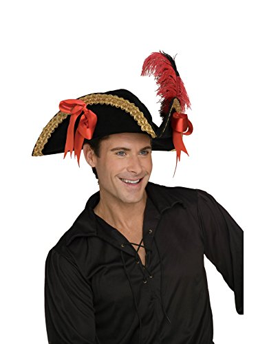 Rubie's Pirate Hat Costume, Black, One Size ()