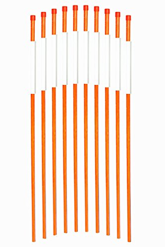 FiberMarker 36-Inch Reflective Driveway Markers Hollow Driveway Poles for Easy Visibility at Night 1/4 Inch Diameter Orange, 20 Pack