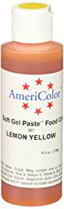 Americolor Soft Gel Paste Food Color, 4.5-Ounce, Lemon Yellow