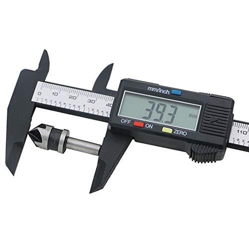 6 Zoll Hochpr/äzise Kohlefaser Noniusschieber f/ür Abst/änden Tiefenma/ß mit LCD Anzeige Schwarz Durchmesser ZHAOYANG Elektronischer Digitaler Messschieber 150 mm