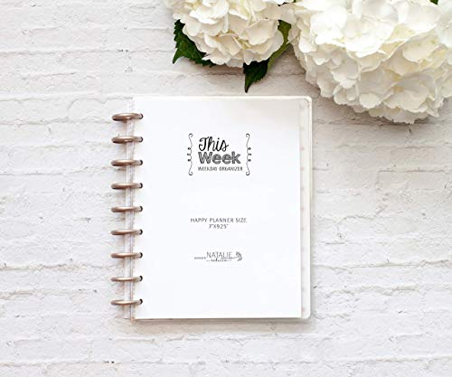 Weekly Organizer for the Happy Planner, This Week, Fits 9-Disc Customizable Notebook, Undated Planner, 7''x9.25'' (Planner Not Included) by Natalie Rebecca Design
