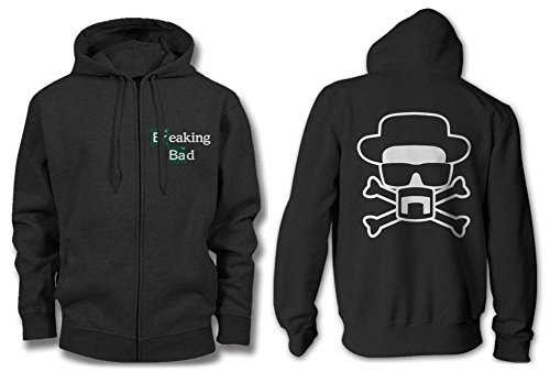 Zip Hoodie: Breaking Bad - Heisenberg and Crossbones Size S