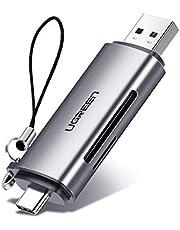 UGREEN USB C Kaartlezer USB 3.0 Card Reader voor SDXC,SDHC,SD,MMC,RS-MMC,Micro SDXC,Micro SD,Micro SDHC SD/TF OTG Adapter Compatibel met Thunderbolt 3 MacBook Pro, iPad Pro 2020/2018, Galaxy S21/ S21+/ S21 Ultra S20/ S20+/ S20 Ultra/ A51, Huawei P30/ P20,enz.