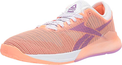Reebok Women's Nano 9 Cross Trainer, White/Sunglow, 8 M US