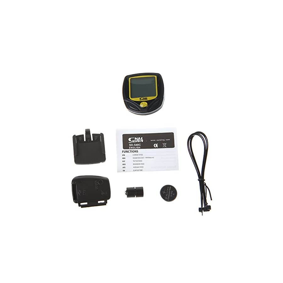 BetterM Waterproof Wireless Cycling Speedometer Odometer with LCD Display