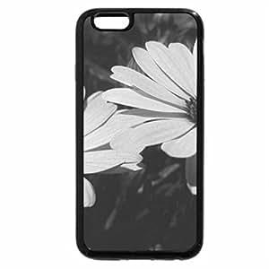 iPhone 6S Plus Case, iPhone 6 Plus Case (Black & White) - Flower