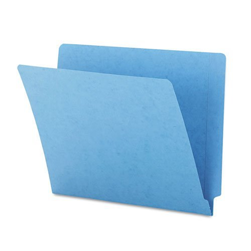 Smead® Colored File Folders, Straight Cut, Reinforced End Tab, Letter, Blue, 100/Box by Smead