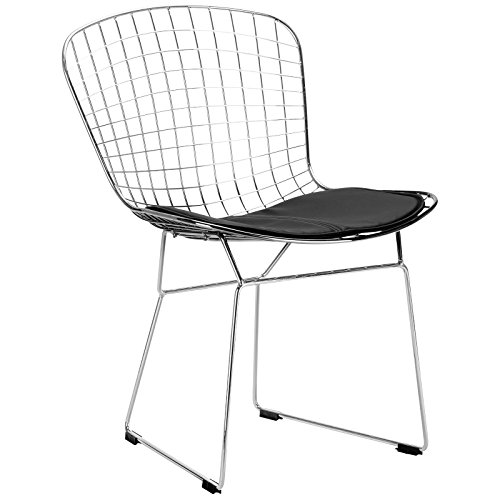 41BJcHEKruL - Poly and Bark Bertoia Style Wire Dining Chair