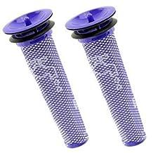 SPARES2GO Washable Pre Motor Stick Filter for Dyson DC58 DC59 DC61 DC62 V6 V8 Animal Vacuum Cleaner (Pack of 2)