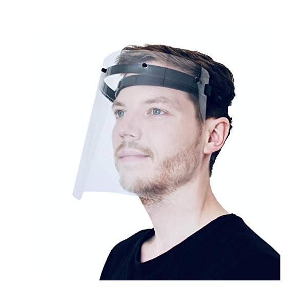 PATRONUS-PROTECTION-CE-zertifizierter-Gesichtsschutz-und-Augenschutz-face-Shield-Spuckschutz-Schirm-inkl-2X-hochwertiges-Visier-transparent-klar-und-beschlagarm