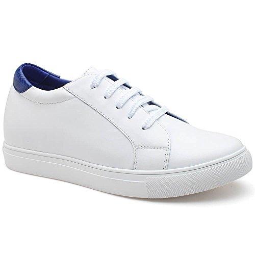 CHAMARIPA Scarpe da Basket con Rialzo Uomo Pelle Sneaker Fino a 6 cm H72C55K121D Blu Explorar Barato En Línea xYFWXu