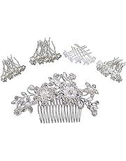 Kaimeilai Haarspelden, 41 stuks, met parels, voor bruiloft en bruid, U-vormige haarspelden, haaraccessoires, strassparels, bruid, haarsieraad, kristallen clips voor vrouwen en meisjes