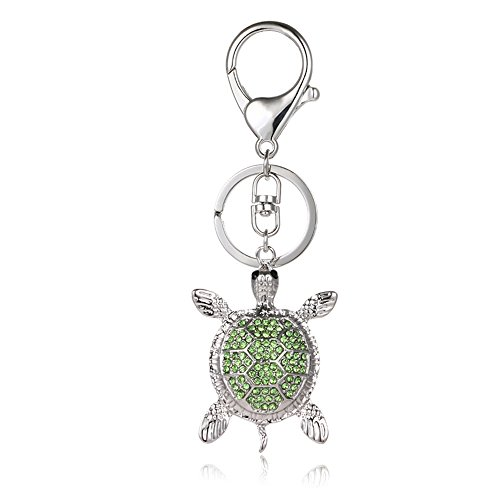 Liavy's Sea Turtle Charm Fashionable Keychain - Sparkling Crystal - Green