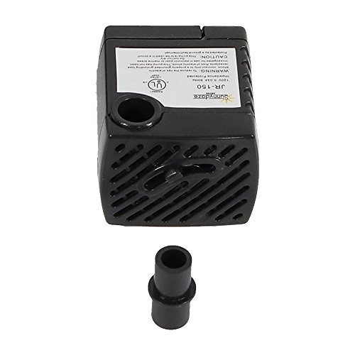 Sunnydaze 40 GPH Submersible Electric Pump for Hydroponics, Aquaponics, Small Fountains, and Aquariums, 120 Volts