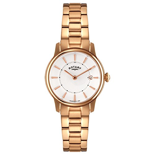 Rotary LB02774-02 Ladies Timepieces Locarno Rose Gold Steel Watch
