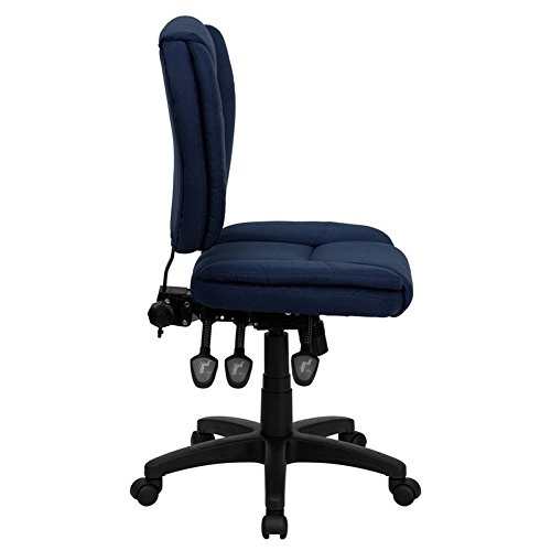 Aberdeen Mid-Back Navy Blue Fabric Ergonomic Swivel Home/Office Task Chair