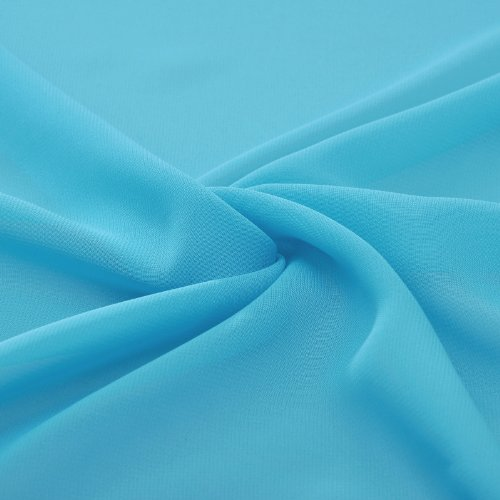 A V line Neck Straps Sleeveless Adorona Dress Chiffon Cyan Natrual Graduation wqOZnAg